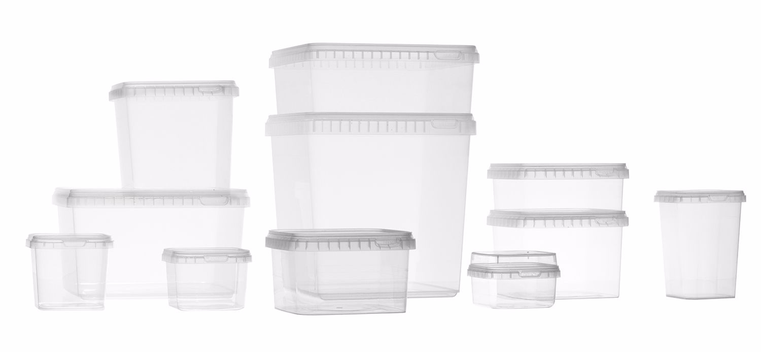 DECA TPS Square containers with safety closure