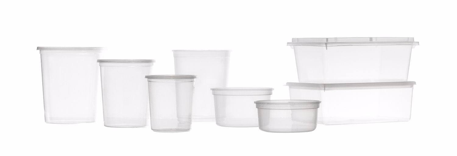 DECA Containers and trays with lid